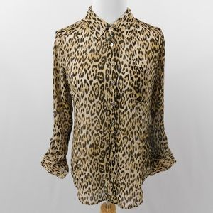 Guess Cheetah Print Blouse